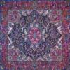 رومیزی ترمه طرح سپهسالار - مربع 100×100 سانتی متر - رنگ مشکی تار مشکی