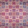 رومیزی ترمه طرح خشتی - مربع 100×100 سانتی متر - رنگ کرم کم رنگ تار سفید