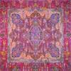 رومیزی ترمه طرح کوروش - مربع ۱۰۰×۱۰۰ سانتی متر - رنگ زرشکی تار مشکی
