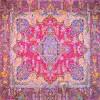 رومیزی ترمه طرح کوروش - مربع ۱۰۰×۱۰۰ سانتی متر - رنگ قرمز تار مشکی