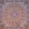 رومیزی ترمه طرح شاهدخت - مربع 100×100 سانتی متر - رنگ خردلی تار سفید
