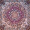 رومیزی ترمه طرح شاهدخت - مربع 100×100 سانتی متر - رنگ زرشکی تار مشکی