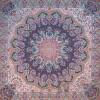 رومیزی ترمه طرح شاهدخت - مربع 100×100 سانتی متر - رنگ مشکی تار مشکی