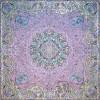 رومیزی ترمه طرح ستایش - مربع 100×100 سانتی متر - رنگ صورتی تار مشکی