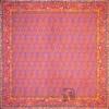 رومیزی ترمه طرح یاقوت سنتی - مربع ۱۰۰×۱۰۰ سانتی متر - رنگ قرمز مشکی