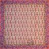 رومیزی ترمه طرح یاقوت سنتی - مربع ۱۰۰×۱۰۰ سانتی متر - رنگ زرد تار مشکی